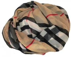 Beige tørklæde i klassisk design