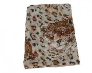 Bestil beige tørklæde med leopard