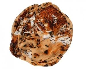 Bestil brunt løve tørklæde med leoparder