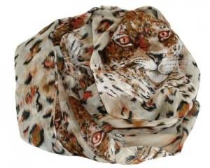 Tørklæde med leopard