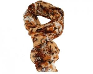 Køb brunt løve tørklæde med leopardmotiv