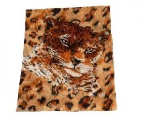 Køb brunt leopardtørklæde med leopardmotiv