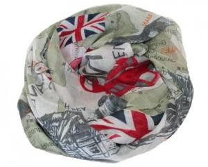 Smukt tørklæde med England