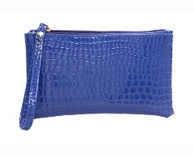 Lille blå pung i slangeskindslook online