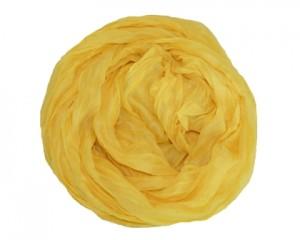 Ensfarvet gult tørklæde online