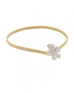 Smalt elastikbælte i guld med smukt spænde med små skinnende sten i Smikkas webshop