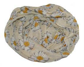 Lyst tørklæde med margueritter