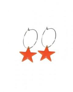 Øreringe med stjernevedhæng i orange online Smikka webshop
