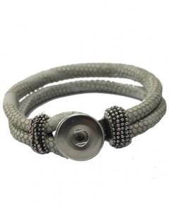 Armbånd til udskiftelige smykker i lys grå hos Smikka