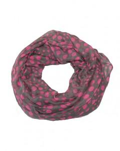 Tubetørklæder i grå med pink prikker online Smikka