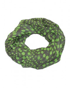 Grå tubetørklæder med neon grønne prikker online Smikka webshop