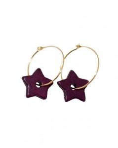 Creol øreringe med lilla stjerne vedhæng online