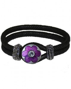 Chunk armbånd med lilla smykke