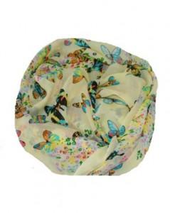 Tørklæde med sommerfugle i blød kvalitet billigt online Smikka