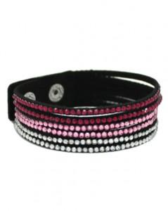 Armbånd med små skinnende sten i pink og lyserøde farver online webshop Smikka