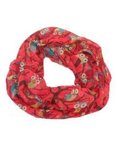 Ugletørklæde i rød
