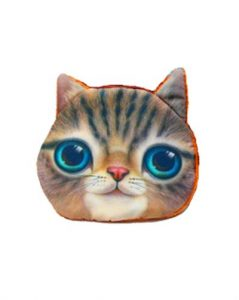 Lille pung med lynlås og kattemotiv billigt online hos Smikka
