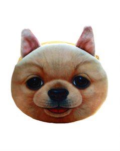 Brun pung med hundemotiv online hos Smikka