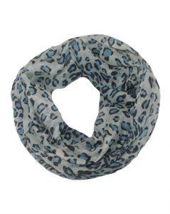 Tubetørklæde i grå med leopardmønster online