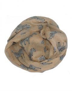 Lyst tørklæde med zebraer