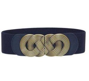 Mørkeblåt elastikbælte til god værtindegave online Smikka