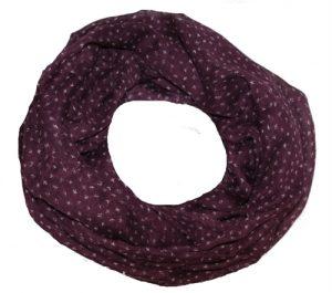 Tubetørklæde i lilla med små fugle print online Smikka