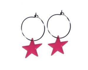 Køb pink øreringe til billige priser på 40 kroner