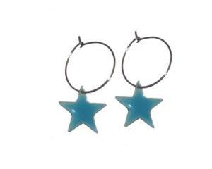 Bestil turkise stjerne øreringe billigt online i webshoppen Smikka