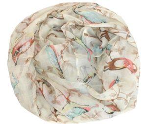 Tørklæder på tilbud med fugleprint i sødt design