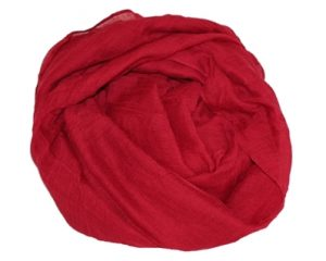 Køb rødt tørklæde billigt online til 89 kroner