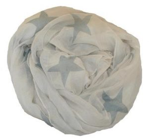 Hvidt stjernetørklæde billigt online Smikka
