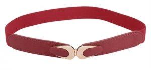 Smalt rødt elastikbælte hos Smikkas webshop til god billige online pris