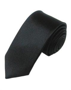 Ensfarvede sorte slips til billig online pris