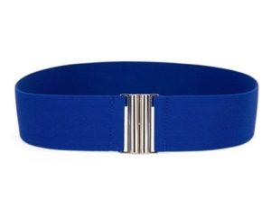 Enkelt blåt bælte af elastik på udsalg