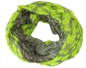 Neongrønne og grå tubetørklæder i smukt design online Smikka webshop