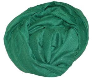 Grønt tørklæde med glitter