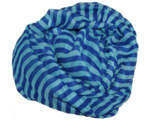 Tørklæder med striber i blå