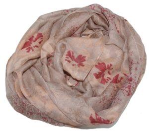 Tørklæde med blomstermotiv online i webshoppen Smikka