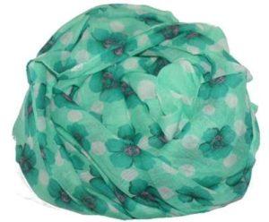 Grønne tørklæder prikker og blomster