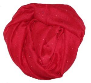 Nye tørklæder i lækre designs. Bl.a. disse røde tørklæder med glitter