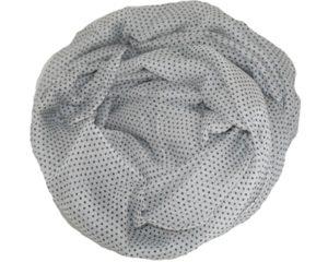Prikkede tørklæder i hvid med sorte prikker