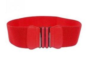 Brede elastikbælter i rød online Smikka