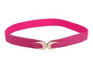 Elastikbælte i lyserød smalt design