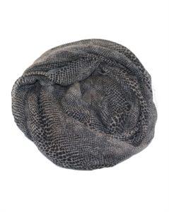 Gråt tørklæde med slangeprint online webshop Smikka