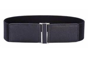 Brede sorte elastikbælter med ekstra længde. Bælte str. XL
