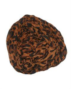 Mørkebrunt leopardtørklæde billigt online Smikka