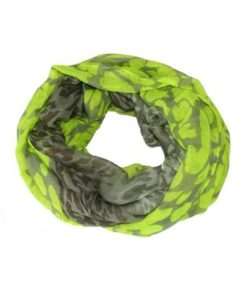Neongrønt tubetørklæde med leopardprint online tilbud Smikka