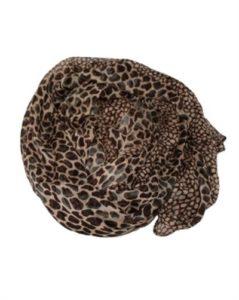Smukt brunt tørklæde med dyreprint