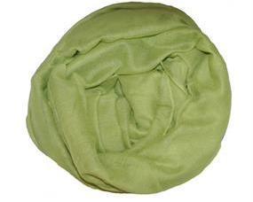Ensfarvet stort tørklæde i støvet grøn Smikka webshop