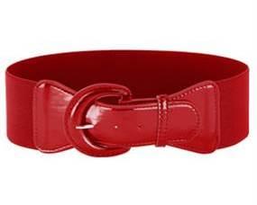 Ekstra langt elastikbælte i rød online Smikkas webshop